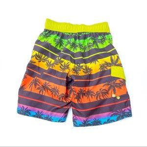 Arizona Palm Tree Colorful Board Swim Shorts S 8